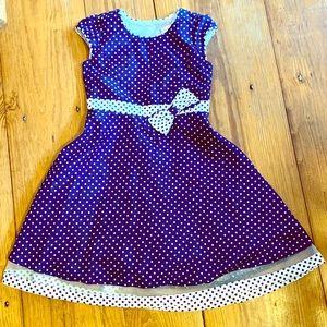 Spring Easter formal dress Girls size 7 polka dot